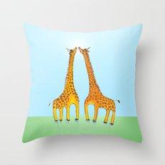 Unicorn Giraffes Throw Pillow