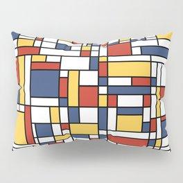 Mondrian De Stijl Pattern Pillow Sham
