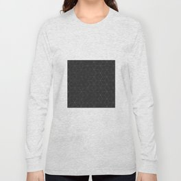 Faded Black and White Cubed Abstract Long Sleeve T-shirt