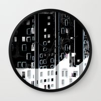 street Wall Clocks featuring Street by Lynsey Ledray