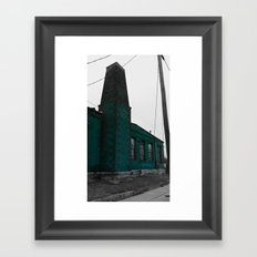 Building With Altered Color Framed Art Print