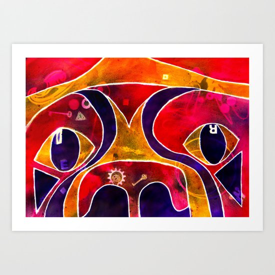 Labstract Art Print