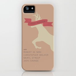 The Deer Hunter, Minimal movie poster, Michael Cimino film, alternative, Christopher Walken, De Niro iPhone Case