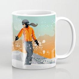 Skier Looking Coffee Mug