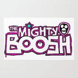 Mighty Boosh Logo, Colourful, Funky, Funny Rug