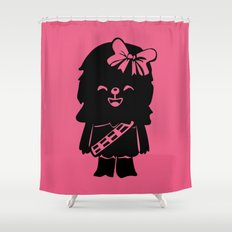Baby Girl Wookie in Pink Graphic Shower Curtain