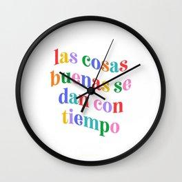 Cosas Buenas Wall Clock