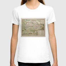 Vintage Map of Jerusalem Israel (16th Century) T-shirt