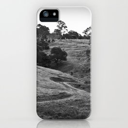A track winding back iPhone Case