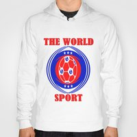 soccer Hoodies featuring SOCCER  by Robleedesigns