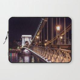 Széchenyi Chain Bridge in Budapest Laptop Sleeve