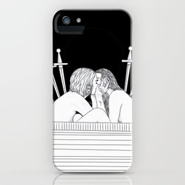 VI of Swords iPhone Case