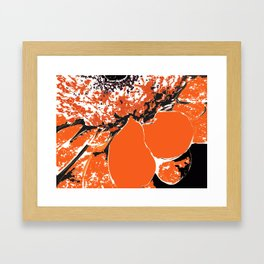 orange ...  Framed Art Print