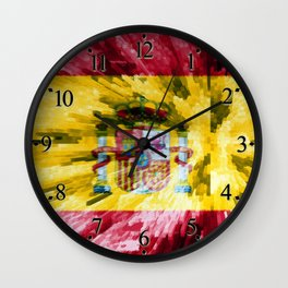 Extruded Flag of Spain Wall Clock