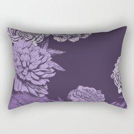 VIOLET FLORAL SYMPHONY Rectangular Pillow
