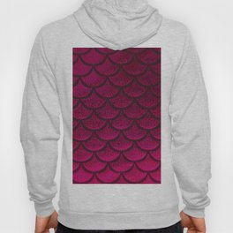 Fuscia Pink Scales Hoody