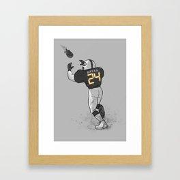Number Twenty Four Framed Art Print