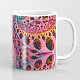 Wild Fiber V. Pink & Green Abstract Art Coffee Mug