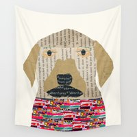 labrador Wall Tapestries featuring the labrador by bri.buckley