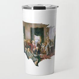 USA MAP The Signing of the Constitution of the United States Travel Mug