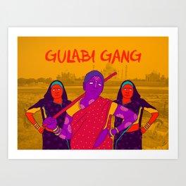 Gulabi Gang Art Print
