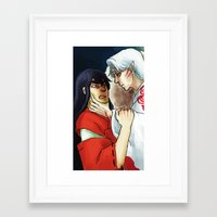 inuyasha Framed Art Prints featuring Inuyasha - Disgrace by MyopicBloom