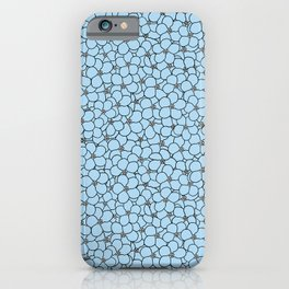 Forget Me Knot Sky Blue iPhone Case