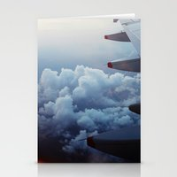 airplane Stationery Cards featuring airplane by venturesomesouls