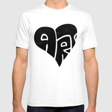We Love Art Mens Fitted Tee SMALL White