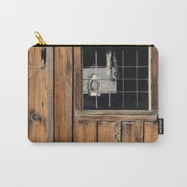Rustic Cabin Window With Oil Lantern Carry-All Pouch