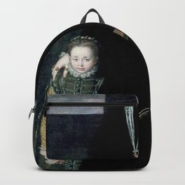 Sofonisba Anguissola - Portrait of Juana of Austria with a Young Girl Backpack