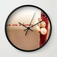 We Are a Family Wall Clock