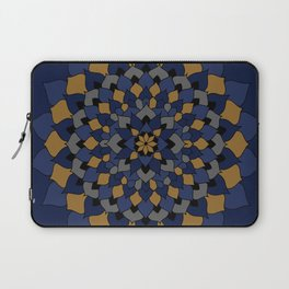 Blue & Bronze Floral Mandala Laptop Sleeve