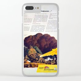 Flame Thrower WWII original vintage ad Clear iPhone Case