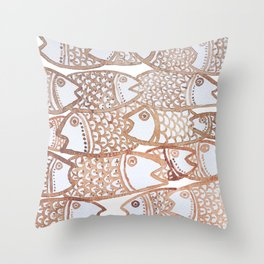 Peixinho sepia Throw Pillow