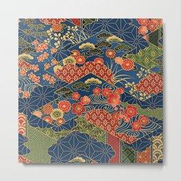 Japan Quilt Metal Print