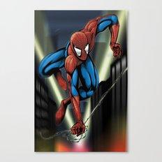 Sharp Spidey Swing Canvas Print