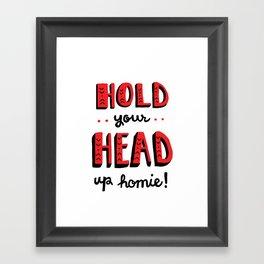 Head Up Framed Art Print