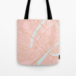 Copenhagen map Tote Bag