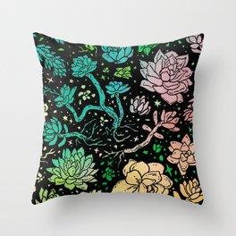 Succulent Supercluster Throw Pillow
