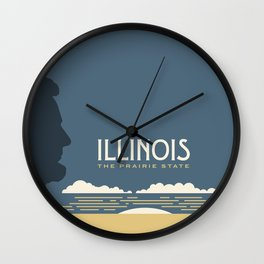 Illinois - Redesigning The States Series Wall Clock