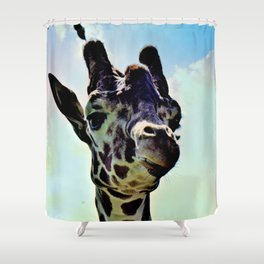 Don't Forget Your Giraffe! Shower Curtain