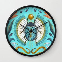 Egyptian Scarab Wall Clock