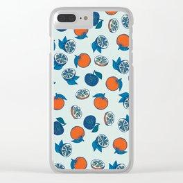 Naranja Pattern Clear iPhone Case
