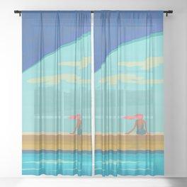 Majestic Solitude Sheer Curtain