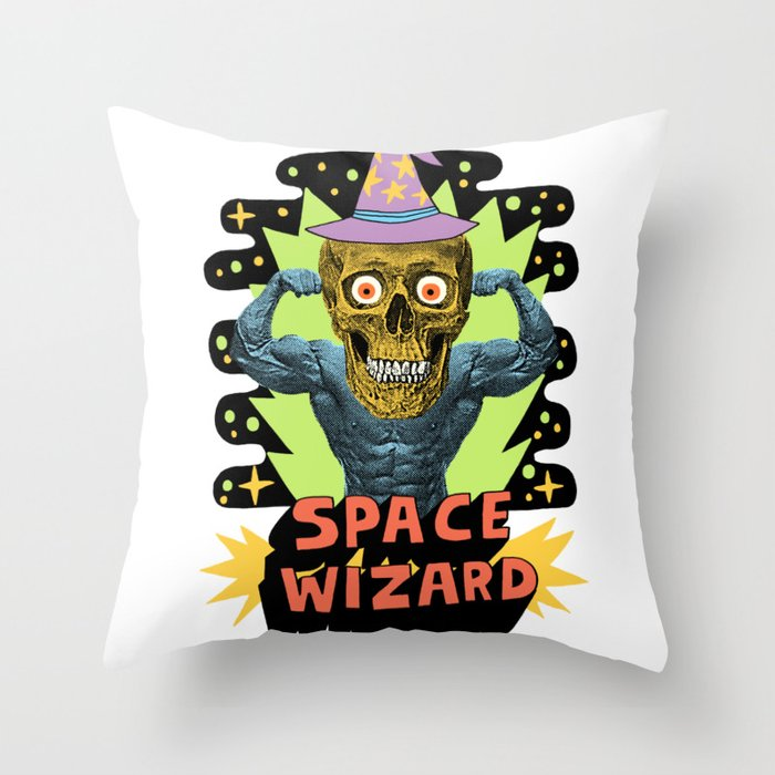 SPACE WIZARD Throw Pillow