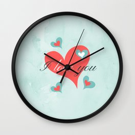 Saint Valentine's Day (I love you) Wall Clock
