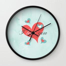 Saint Valentine's Day (I love you) Wall Clock