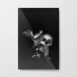 Kostnice Beinhaus Skull Angel Metal Print