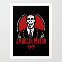 american psycho Art Prints featuring American Psycho by Buby87